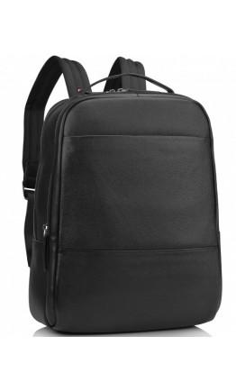 Черный рюкзак кожаный черный SM8-183A