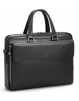 Черная кожаная мужская сумка Tiding Bag SM8-21007-1A