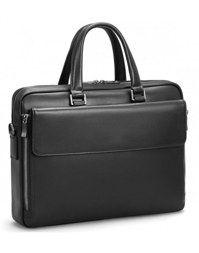 Фотография Черная кожаная мужская сумка Tiding Bag SM8-21007-1A