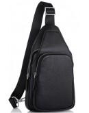Фотография Слинг кожаный мужской черный Tiding Bag SM8-681A