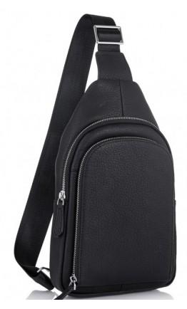 Черная сумка на грудь и на плечо Tiding Bag SM8-812A