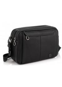 Черная сумка на плечо кожаная Tiding Bag SM8-8890-1A