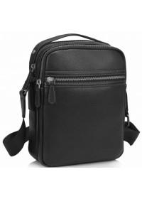 Черная мужская кожаная сумка Tiding SM8-9039-4A