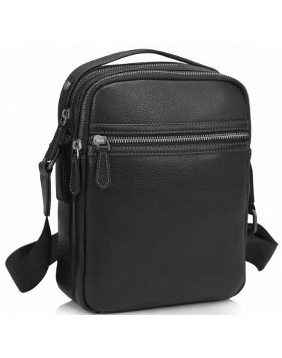 Фотография Черная мужская кожаная сумка Tiding SM8-9039-4A