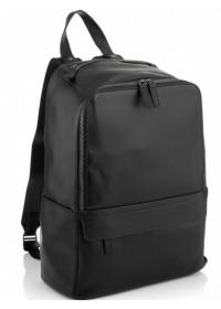 Черный кожаный рюкзак Tiding Bag SM8-9525-3A
