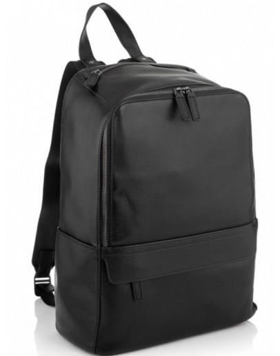 Фотография Черный кожаный рюкзак Tiding Bag SM8-9525-3A