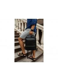 Черный кожаный мужской рюкзак Tiding Bag SM8-9597-3A