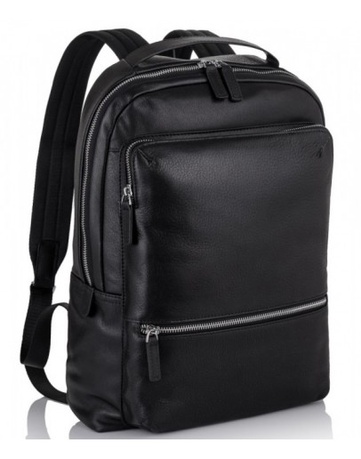 Фотография Черный кожаный мужской рюкзак Tiding Bag SM8-9597-3A