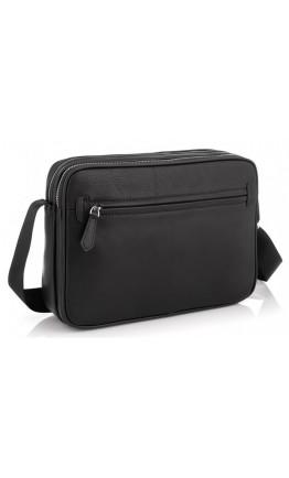 Мужская черная кожаная гоизонтальная сумка Tiding SM8-018A