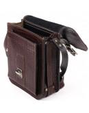 Фотография Мужская коричневая сумка на плечо Manufatto spb3-brown-croco