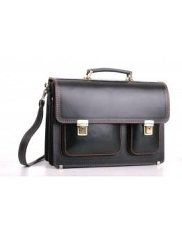 Портфель черный кожаный для мужчин Manufatto 2-sps black br
