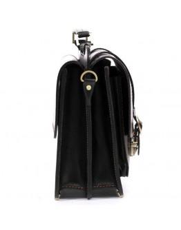 Портфель Manufatto из натуральной кожи черного цвета sps4