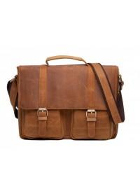 Мужской портфель кожаный, коричневая сумка t0001