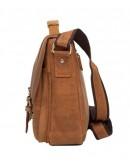 Фотография Мужской портфель кожаный, коричневая сумка t0001