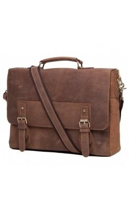 Кожаный мужской коричневый портфель t0002