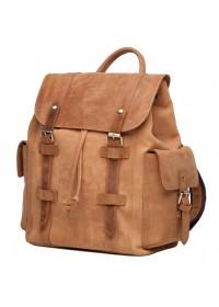 Коричневый стильный винтажный мужской рюкзак t0010