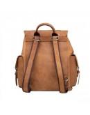 Фотография Коричневый стильный винтажный мужской рюкзак t0010