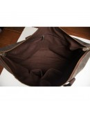 Фотография Сумка кожаная мужская темно-коричневая t0011