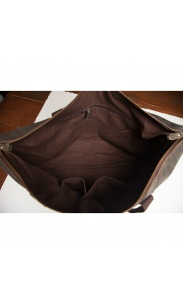 Сумка кожаная мужская темно-коричневая t0011
