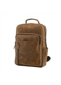 Кожаный винтажный мужской рюкзак t0017