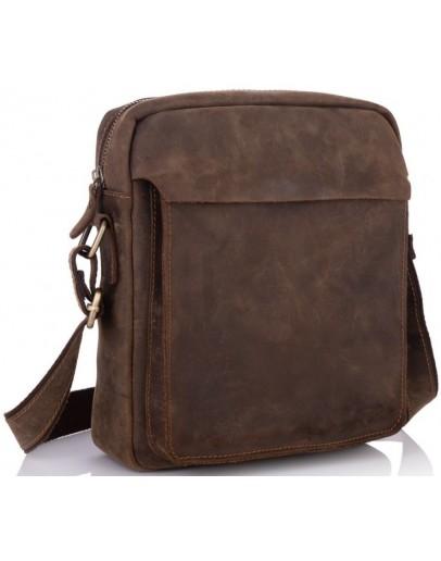 Фотография Винтажная кожаная мужская сумка на плечо t0022R