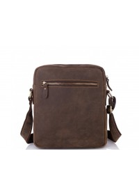 Винтажная кожаная мужская сумка на плечо t0022R