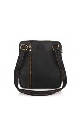 Мужская кожаная сумка на плечо , черная t0030A