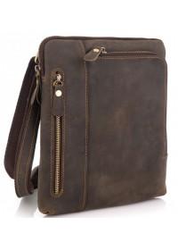 Кожаная мужская сумка на плечо, коричневая t0030R