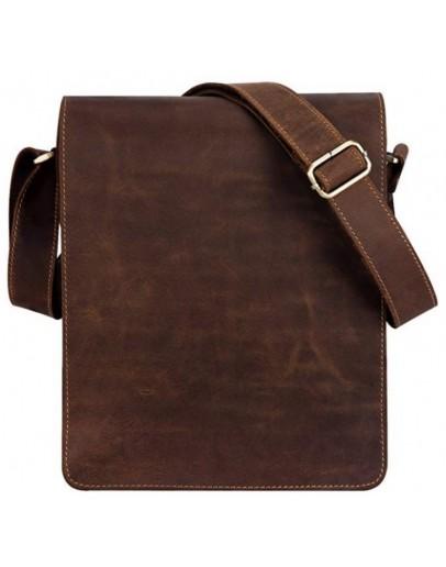 Фотография Коричневая мужская сумка кожаная Tiding Bag t0034