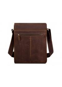 Коричневая мужская сумка кожаная Tiding Bag t0034