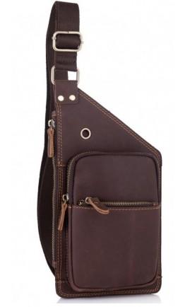 Мужской винтажный кожаный слинг Tiding Bag t0035