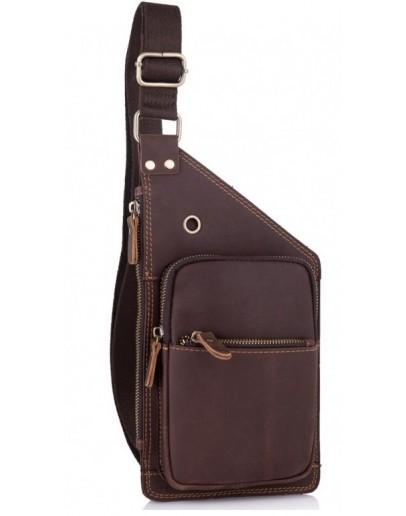 Фотография Мужской винтажный кожаный слинг Tiding Bag t0035