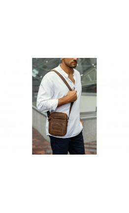 Мужская кожаная винтажная небольшая сумка на плечо Tiding t0036