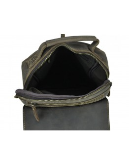 Коричневая сумка из натуральной кожи t0038