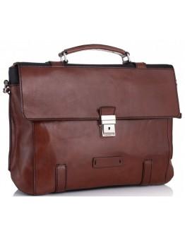 Мужской кожаный портфель комбинированный Tiding Bag t0041