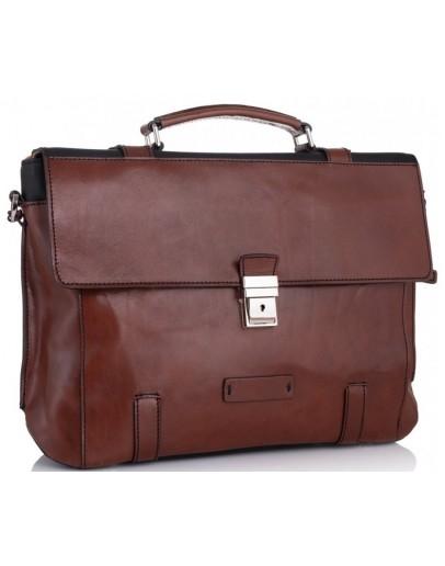 Фотография Мужской кожаный портфель комбинированный Tiding Bag t0041