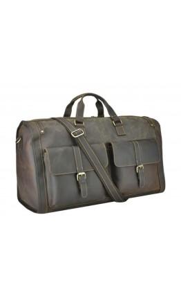Большая дорожная кожаная мужская сумка t0050DB