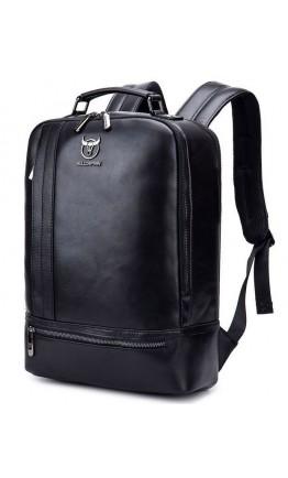 Черный мужской кожаный рюкзак Bull T0331