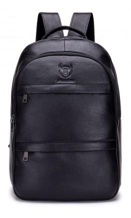 Черный кожаный городской рюкзак Bull T0333