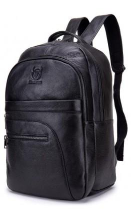 Черный рюкзак мужской кожаный Bull T0334