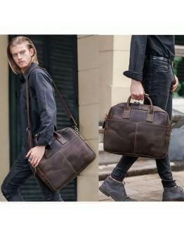 Шикарная сумка - портфель из высококачественной телячьей кожи 71019