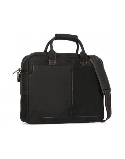 Фотография Кожаная черная мужская сумка для ноутбука 7 t1019RA