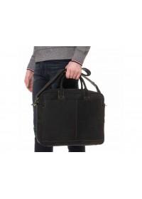 Кожаная черная мужская сумка для ноутбука 7 t1019RA