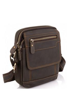Мужская коричневая небольшая сумка на каждый день Tiding Bag t2101