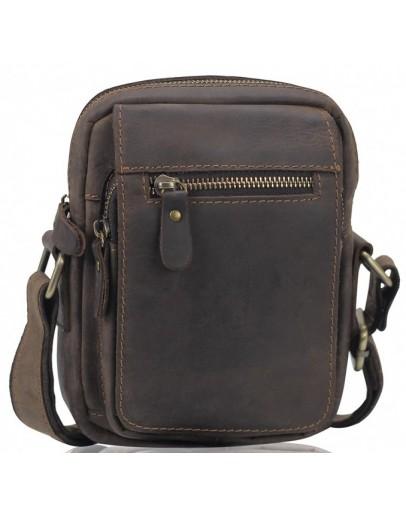 Фотография Коричневая мужская винтажная сумка Tiding Bag t2102