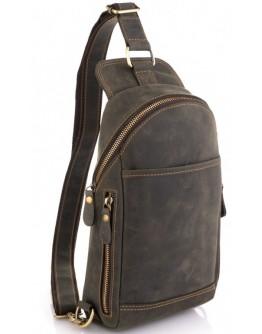 Винтажный кожаный мужской слинг Tiding Bag t2104