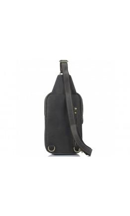 Мужской слинг кожаный винтажный Tiding Bag t2105