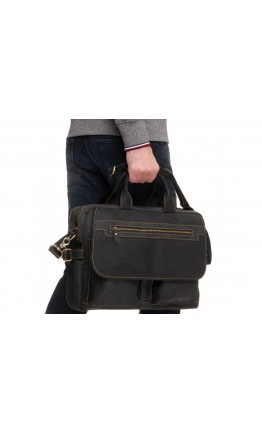 Мужская кожаная черная деловая сумка t29523A