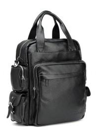 Универсальная черная мужская сумка рюкзак t3069