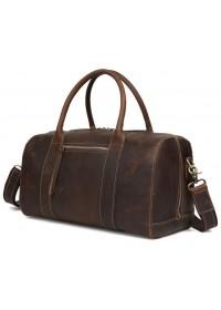 Кожаная коричневая сумка мужская для ручной клади t3070
